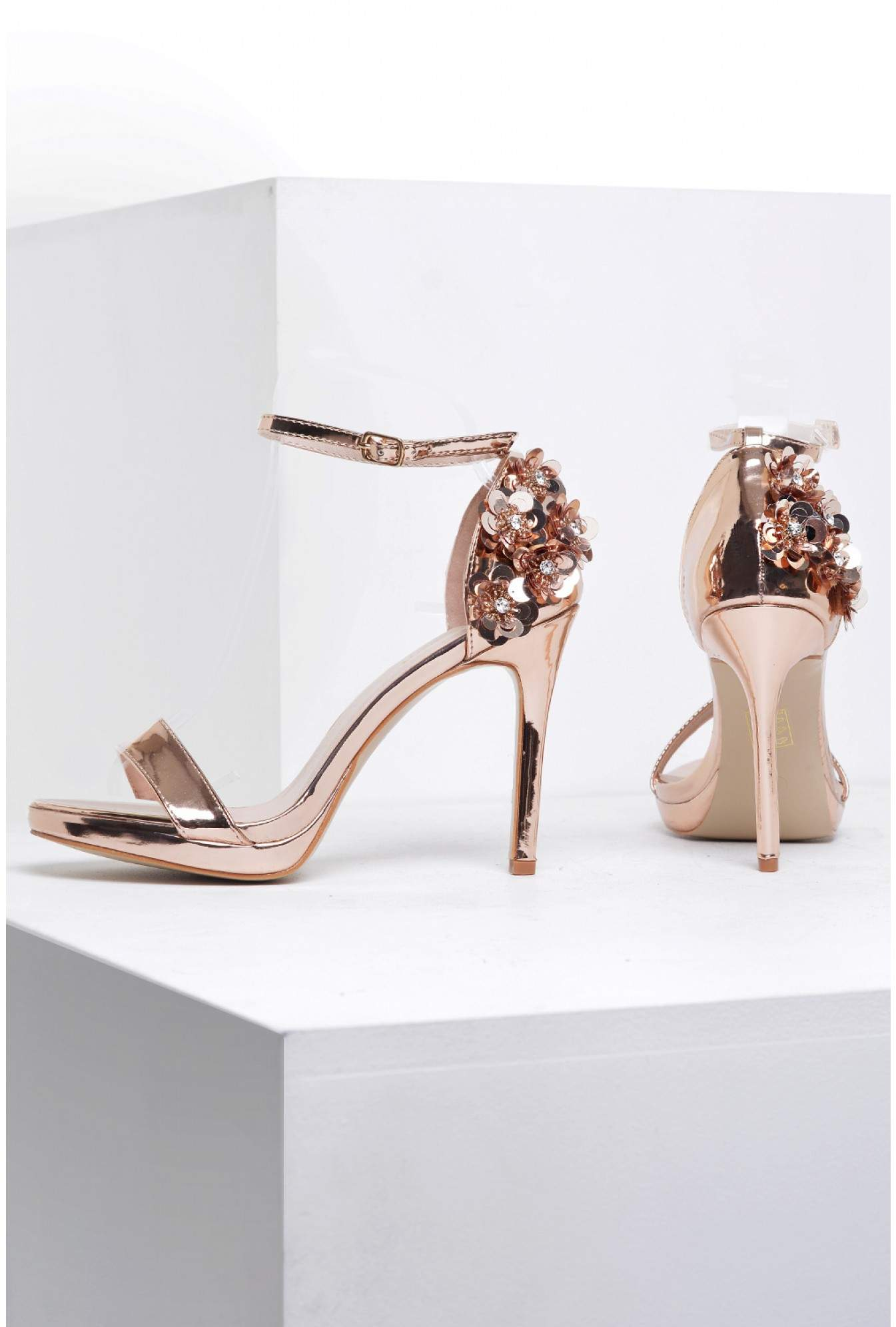 aff756db6d6464 More Views. Pippa Embellished Heel Sandals in Rose Gold