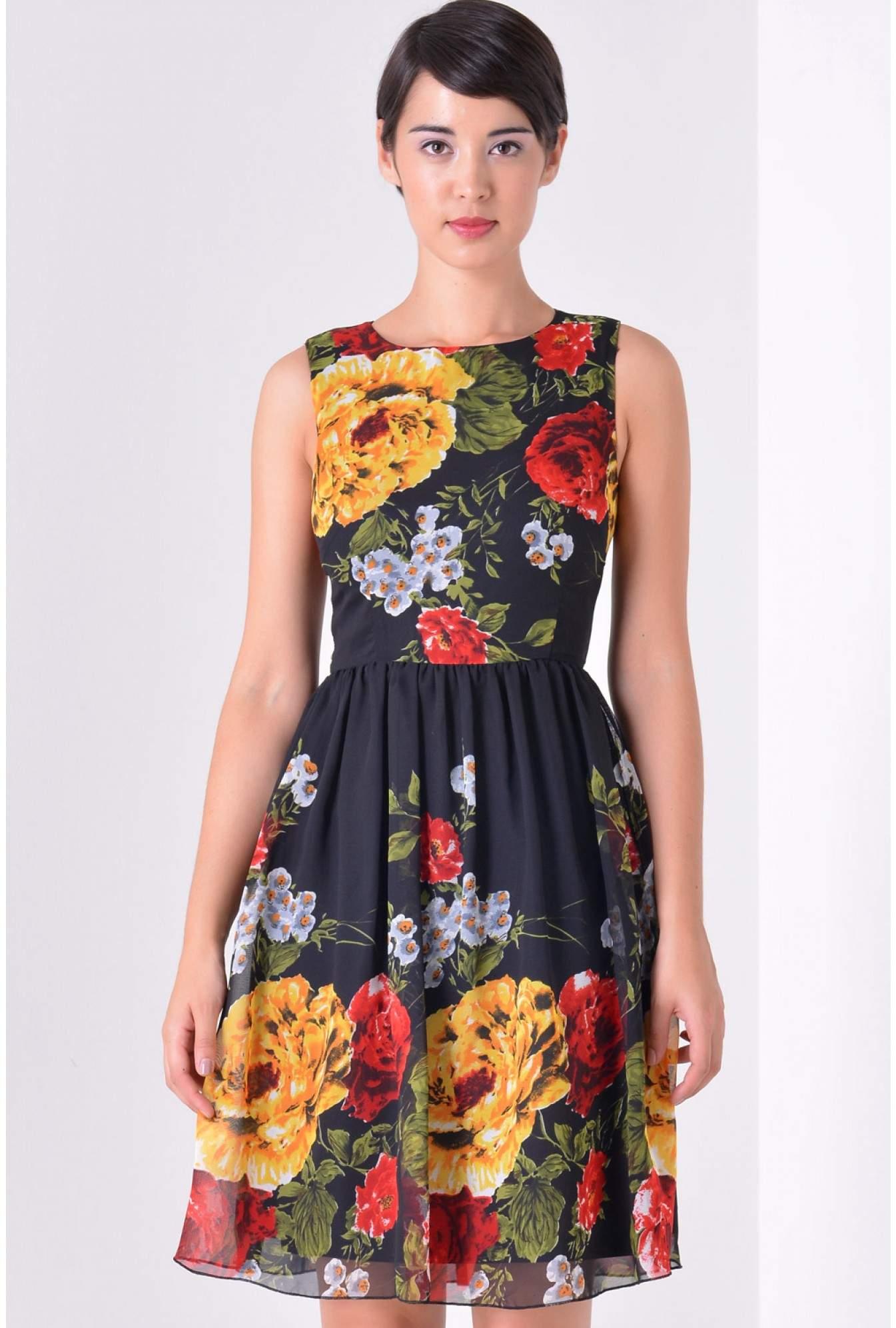 231e85f832d iCLOTHING Lulu Floral Chiffon Dress