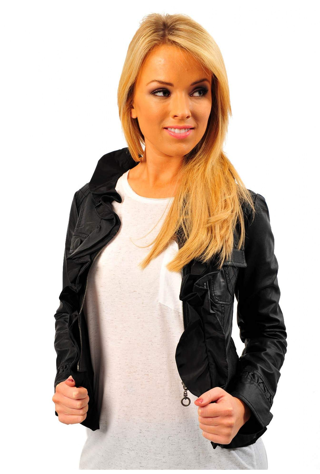 0be70770ba3 Ilana Leather Look Jacket (black)
