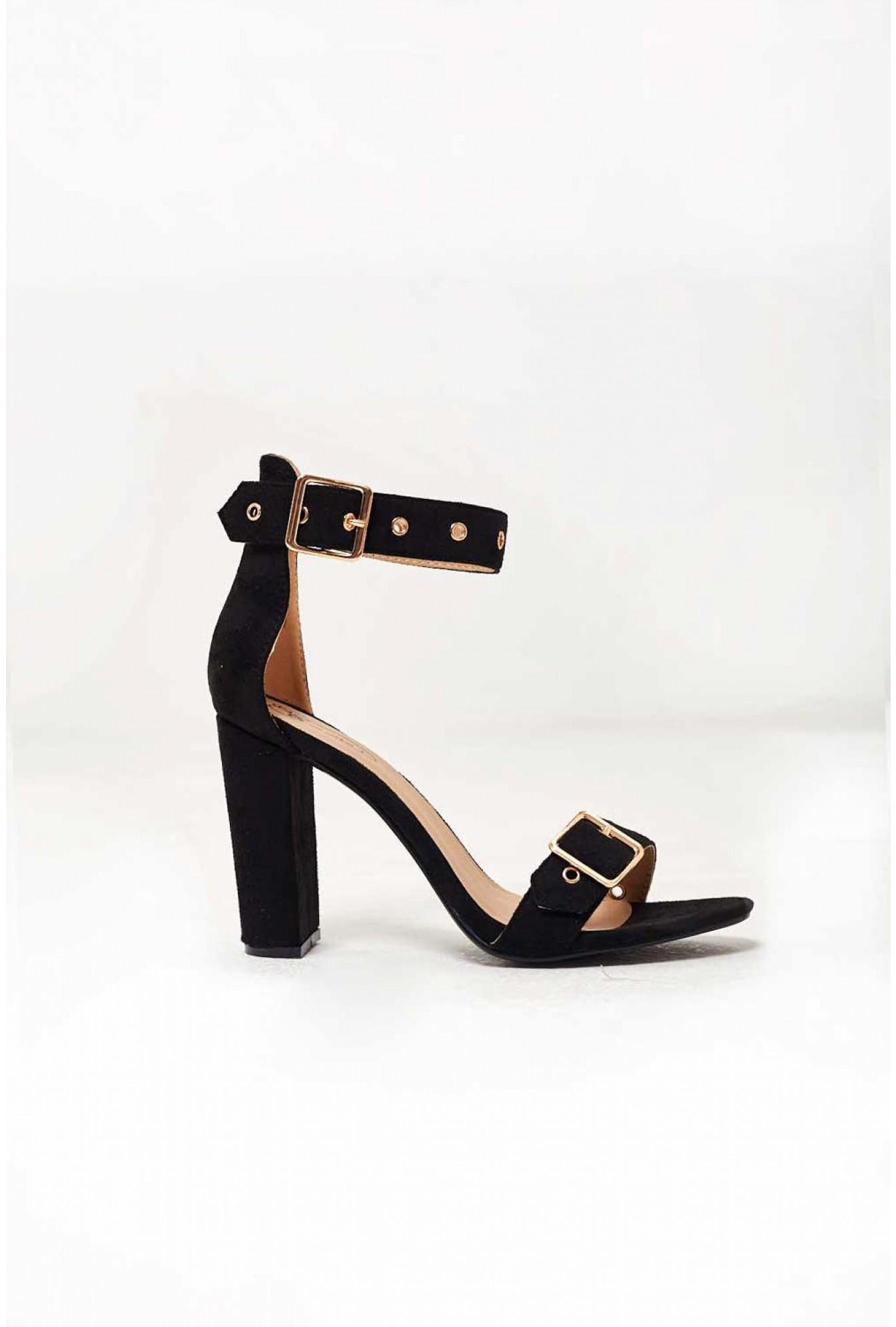 detailed images 2018 shoes no sale tax Jace Block Heel Sandals in Black
