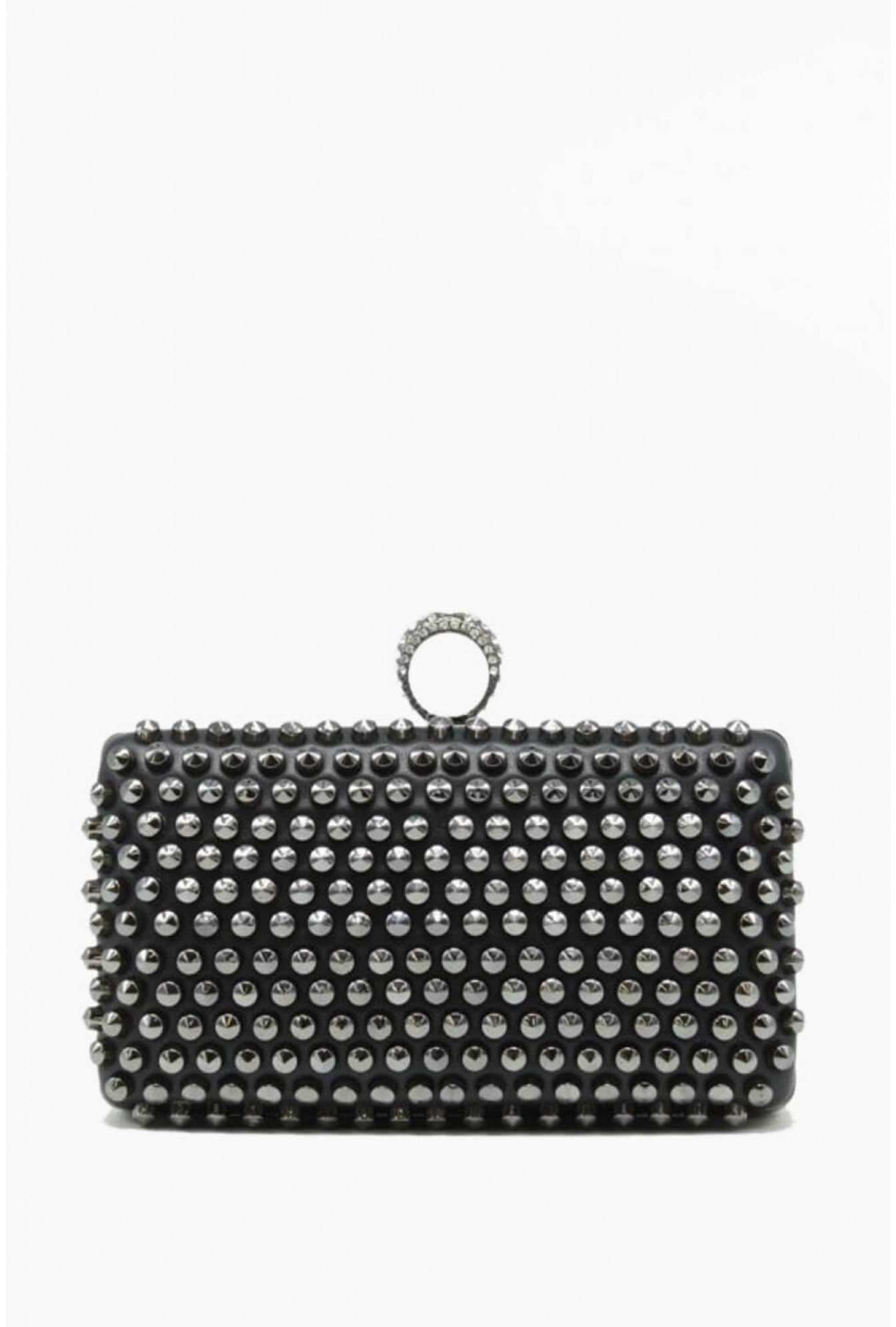 9f4f0bc80ec Tom & Eva Jayne Studded Clutch Bag in Black   iCLOTHING