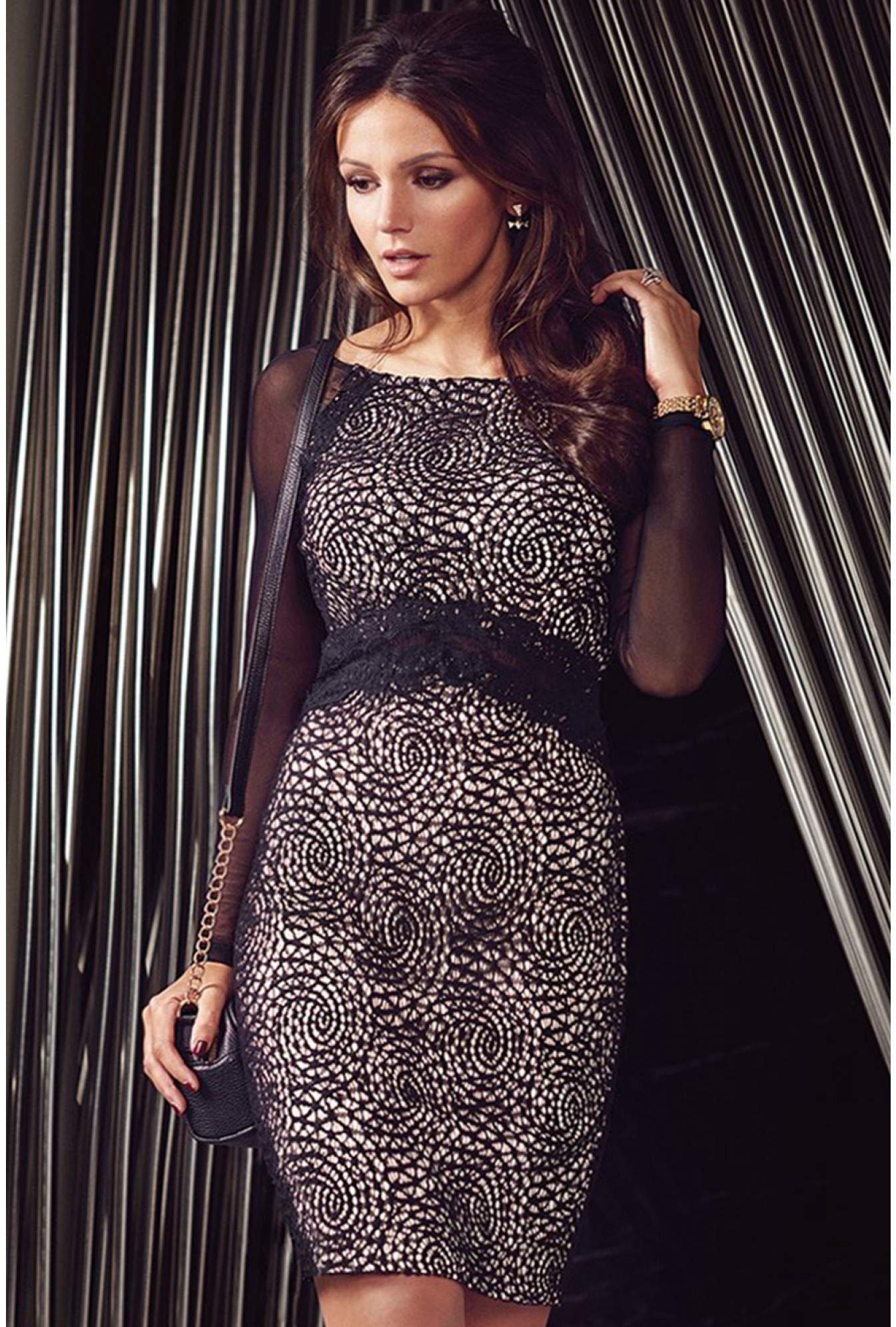 f4b56fa5a807f Lipsy Michelle Keegan Sheer Lace Midi Dress