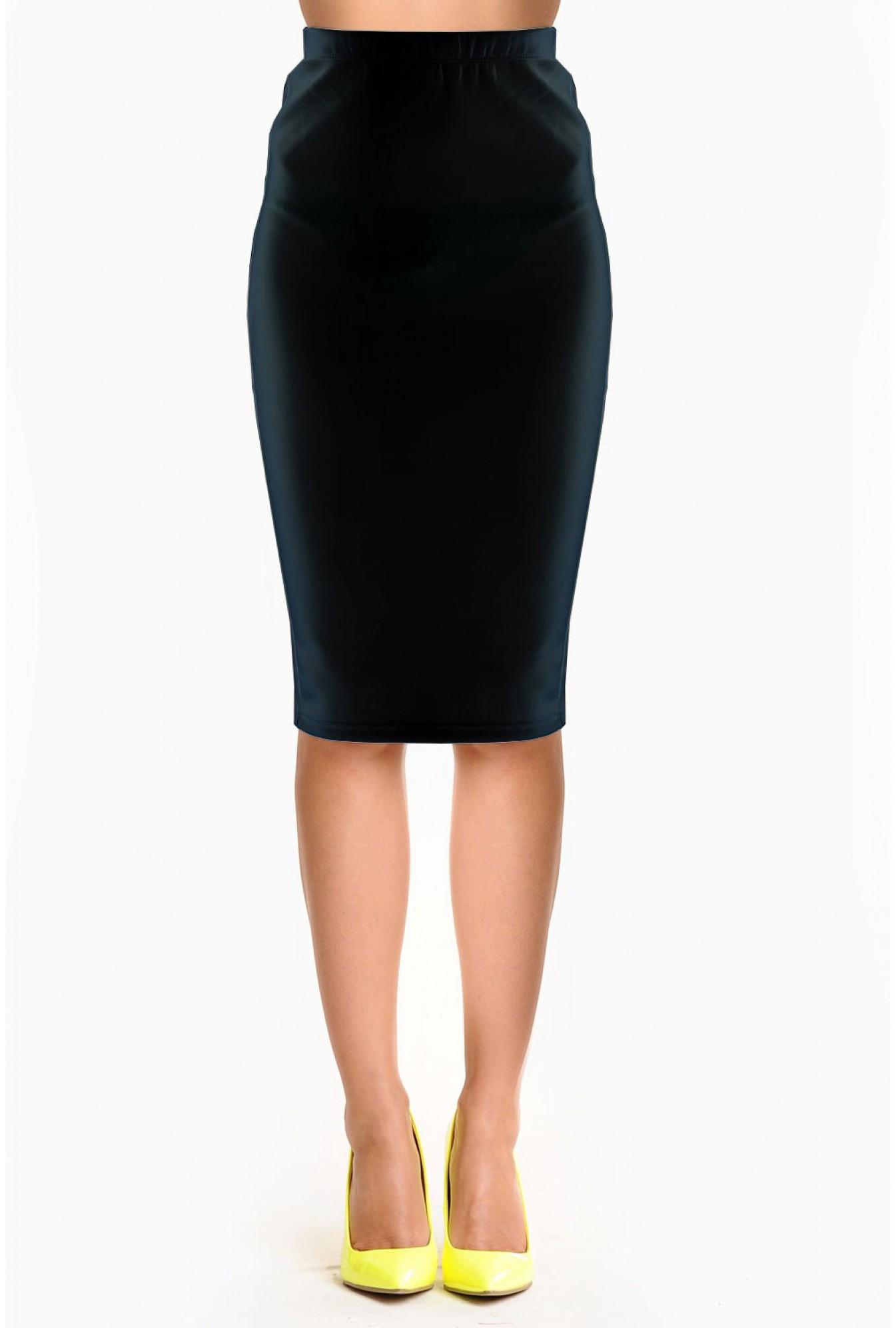 fbd44668a0 AX Paris Reese Scuba Pencil Skirt in Black | iCLOTHING