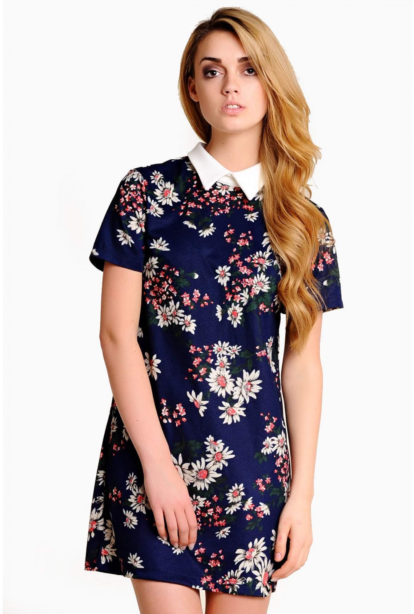 84a4b5f7cd4 Cara Floral Collar Tunic Dress