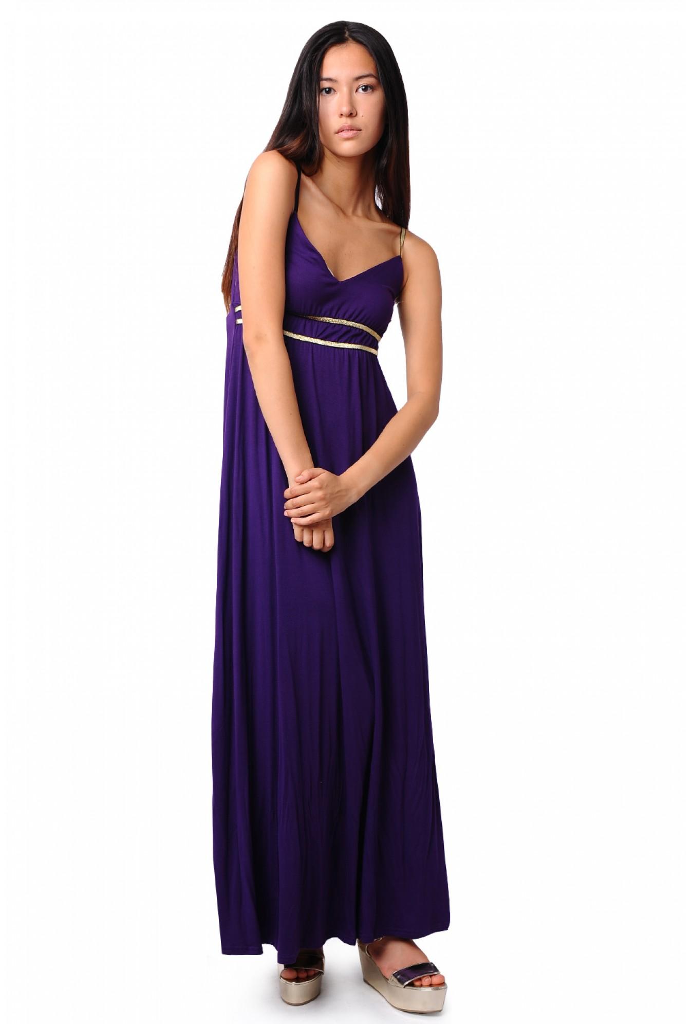 42d350a0f71 More Views. Sue Grecian Maxi Dress in Purple. John Zack