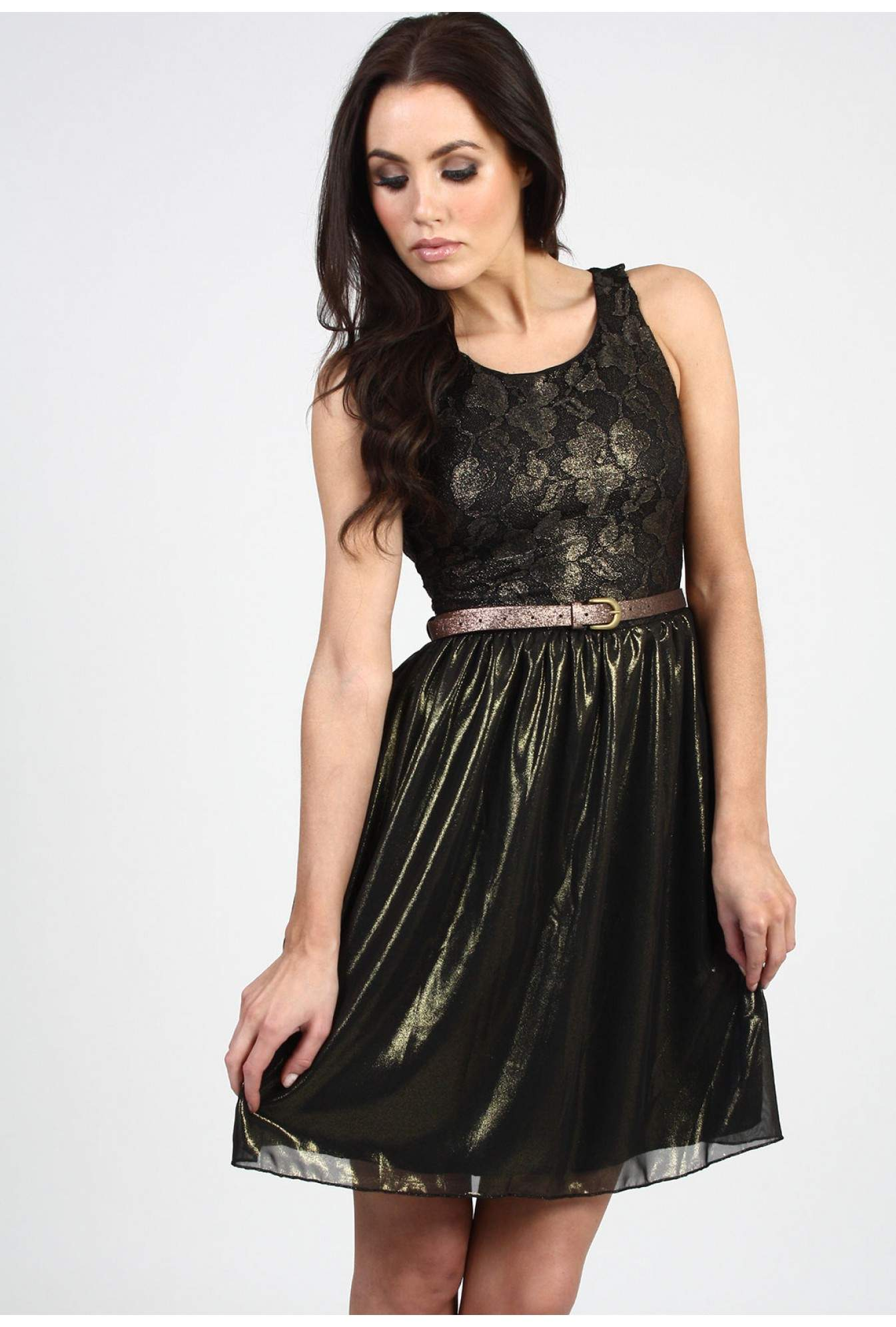 582210e1f8c More Views. Kate Metallic Lace Dress