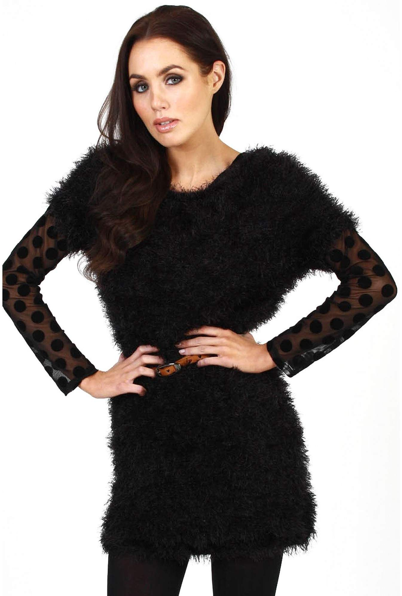 097edd237 More Views. Kerry Faux Fur Tunic Dress
