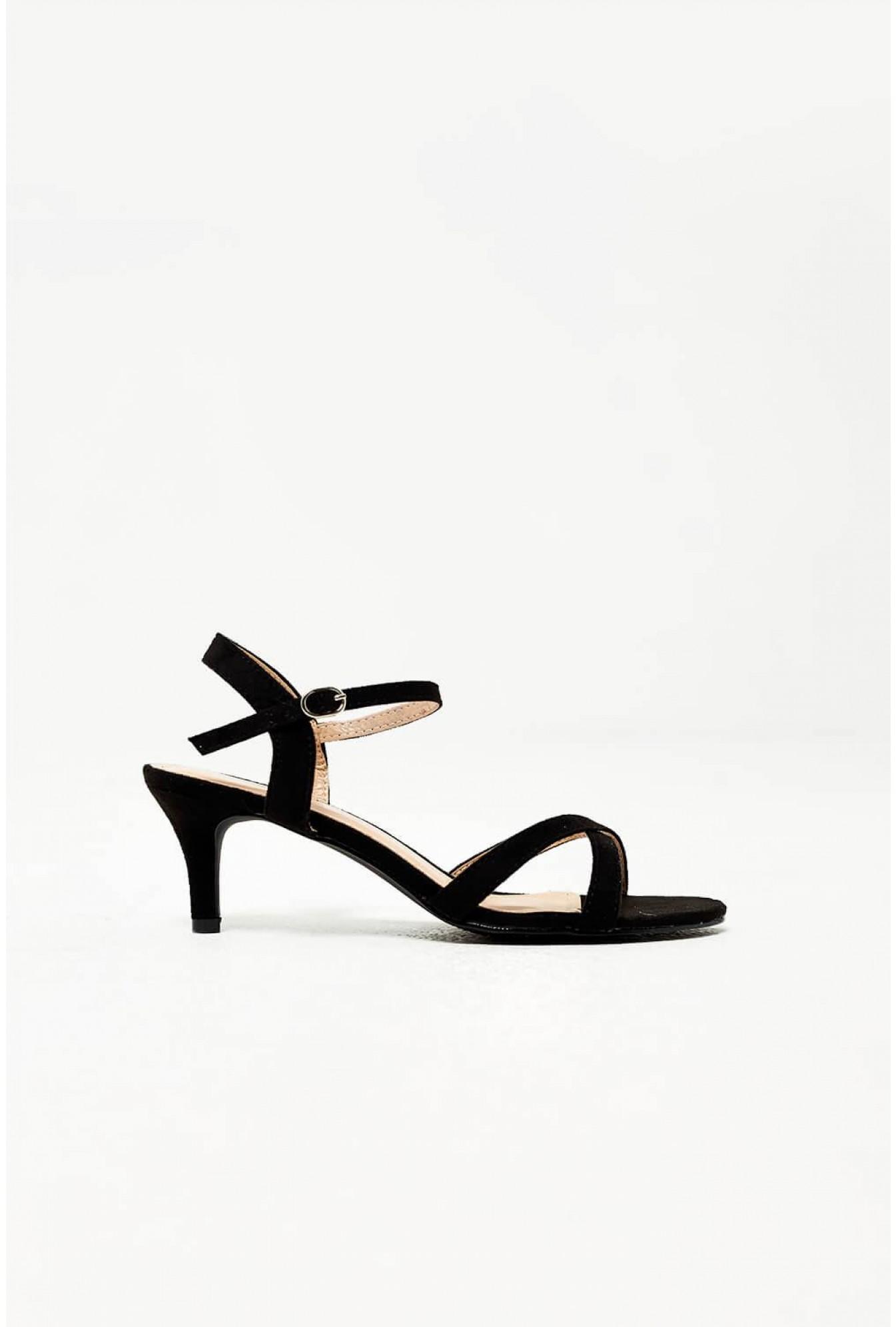 532b5faf41be67 More Views. Ami Kitten Heel Sandals in Black Suede