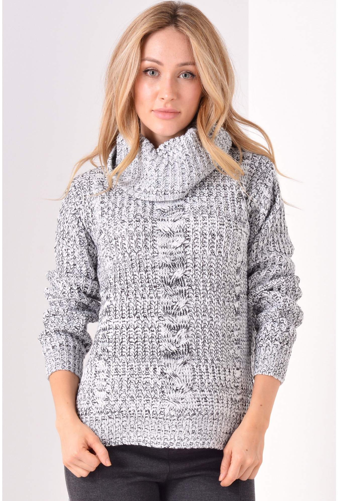 e21fc01bdb1 More Views. Meryl Polo Neck Knit Jumper in Grey