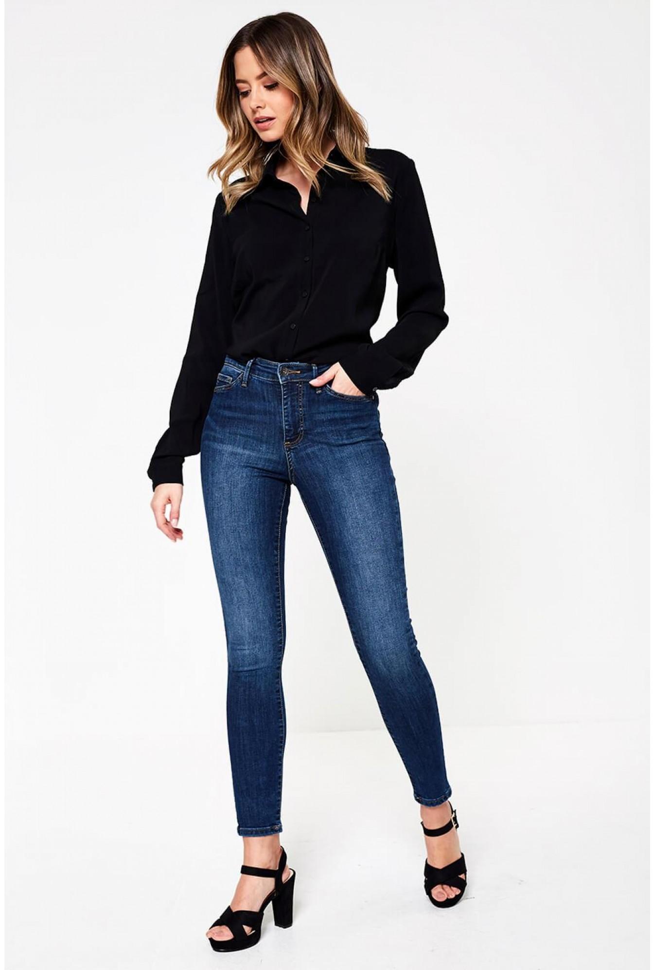 96bf87cb3e More Views. Sophia High Rise Skinny Jeans in Medium Blue. Vero Moda