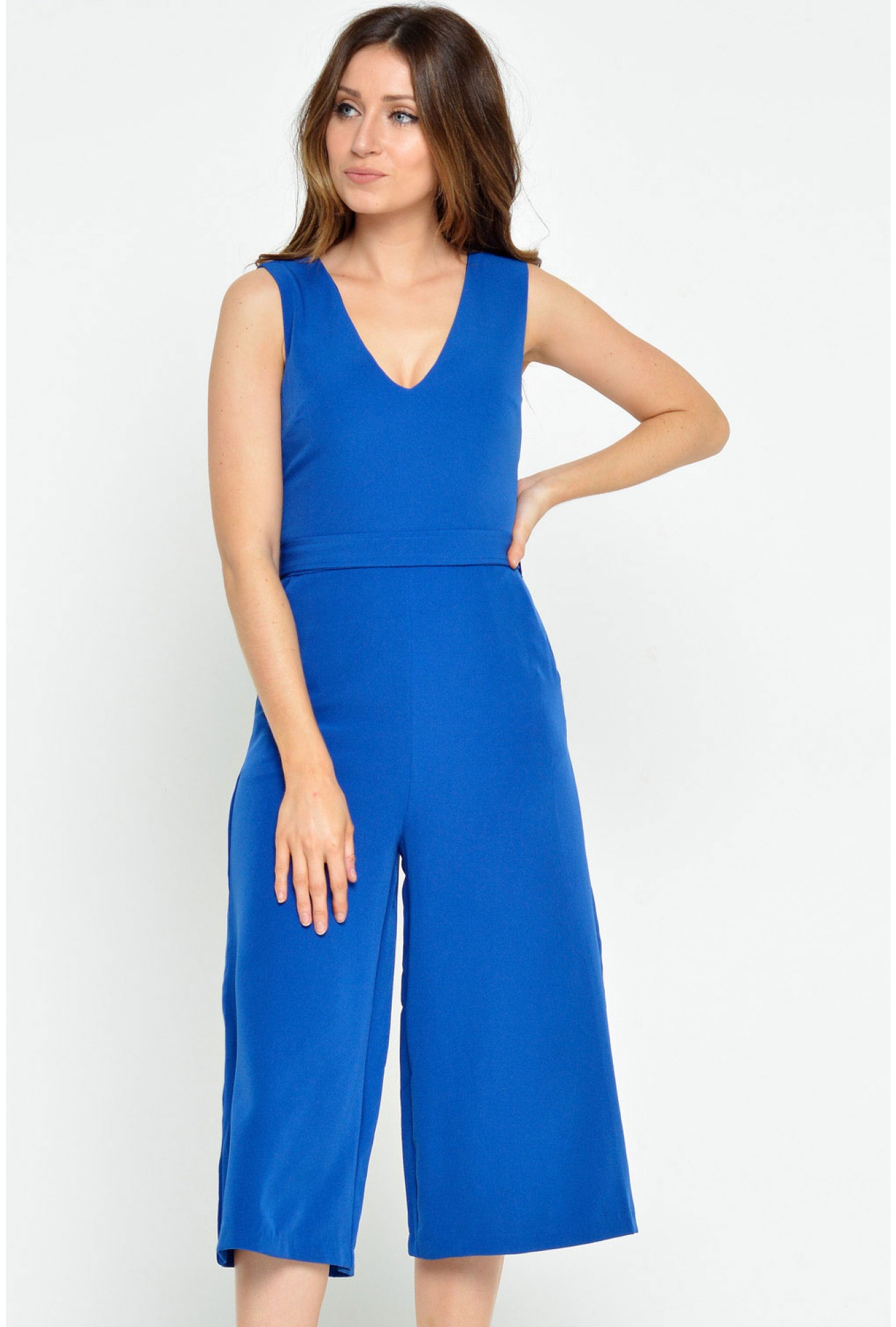 c2bece2fab15 More Views. Donna Culotte Jumpsuit in Royal Blue