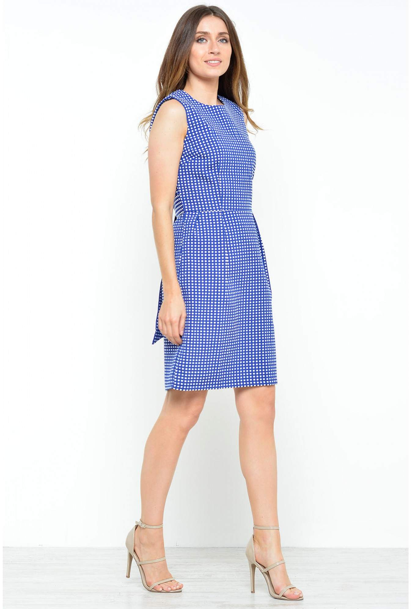 50b2942ab5977 Marc Angelo Matilda Polka Dot Dress in Navy | iCLOTHING