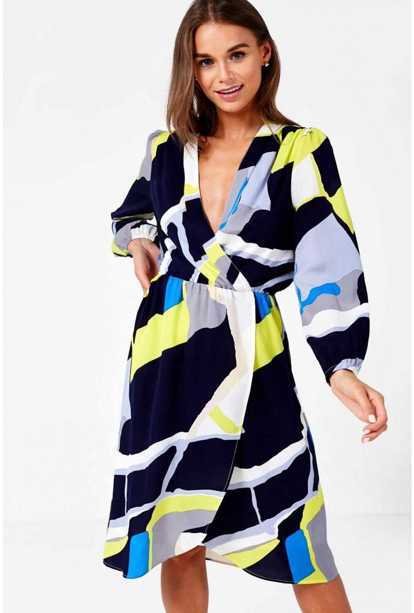368c02b72d Marc Angelo Selena Occasion Dress in Abstract Print | iCLOTHING