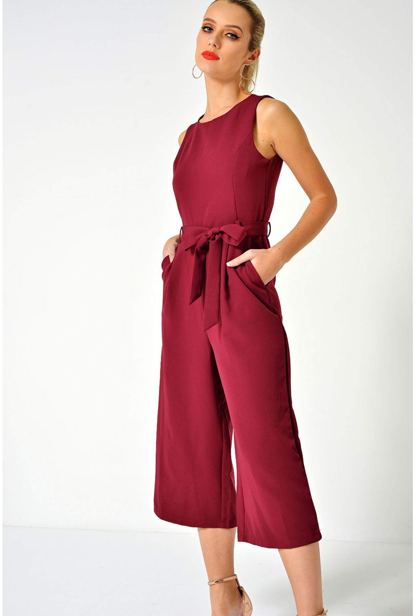 757c317c5bd6 More Views. Layla Longline Culotte Jumpsuit in Wine. Marc Angelo