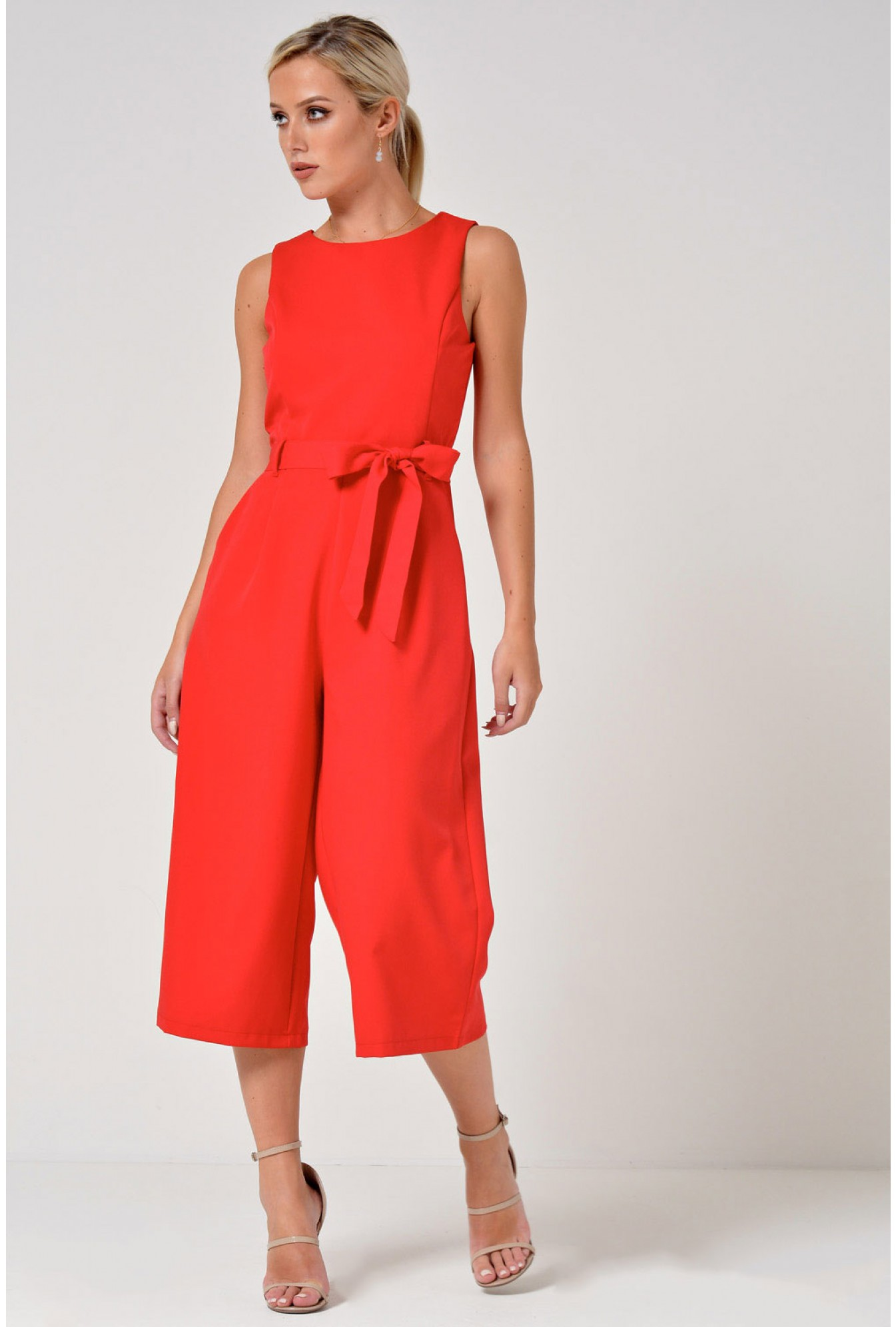 83e4975334bb More Views. Layla Longline Culotte Jumpsuit in Red. Marc Angelo