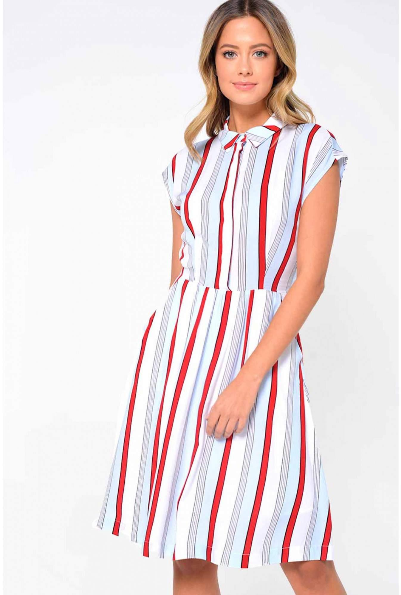 1e05f214 Louche Madina Stripe Shirt Dress | iCLOTHING