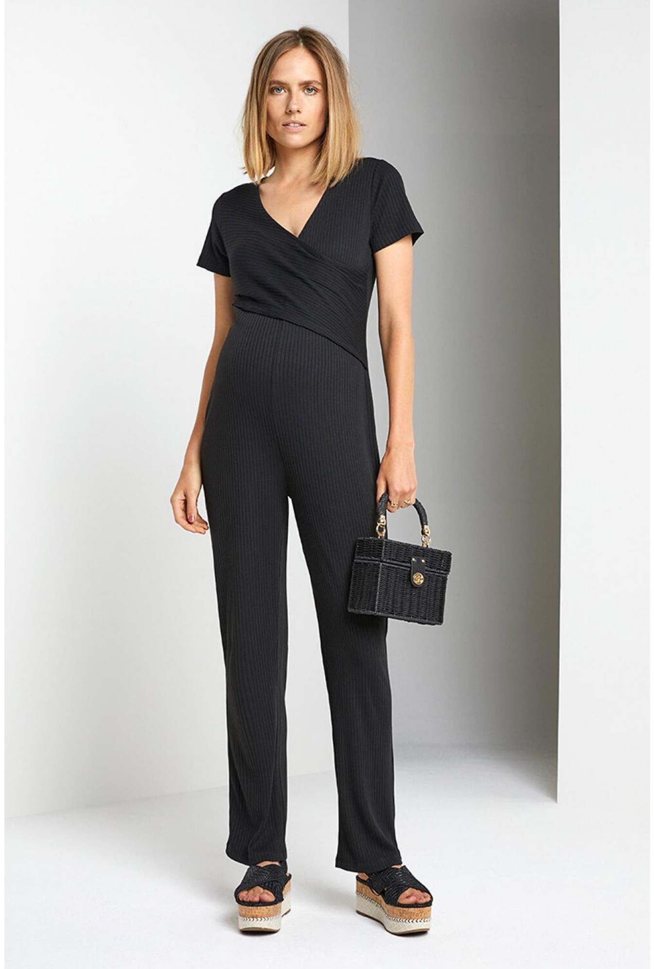 b505d4bb86f11 Noppies Maternity Jersey Jumpsuit in Black | iCLOTHING