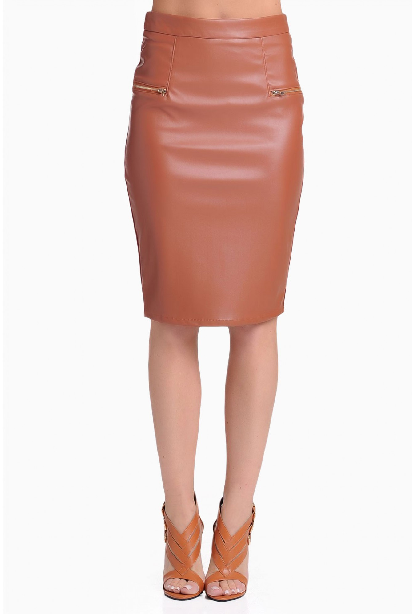92dfe0fab01930 More Views. Maisy PU Pencil Skirt ...