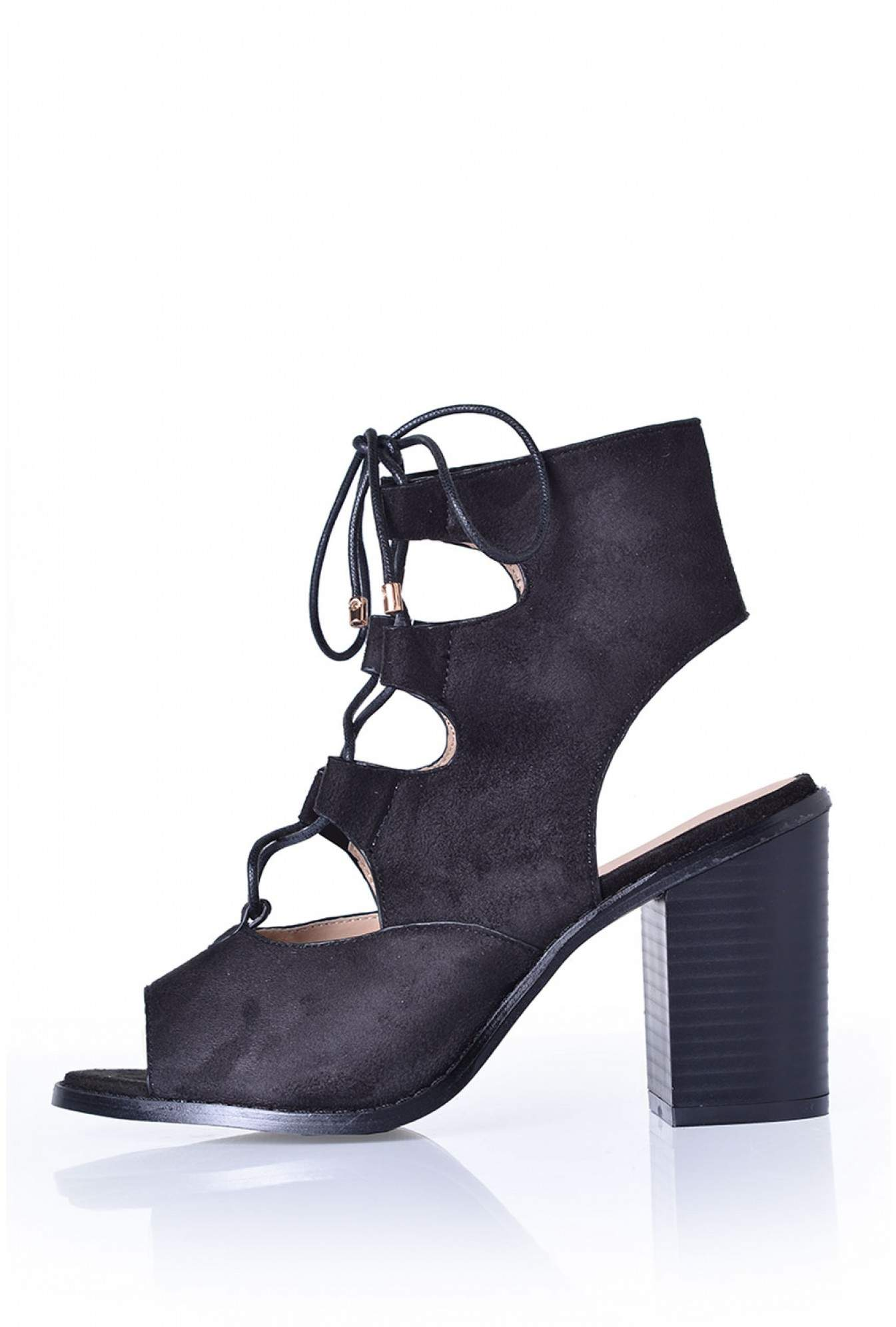 53bc1fce6c5 Indigo Footwear Lenni Open Heel Sandals in Black Suede
