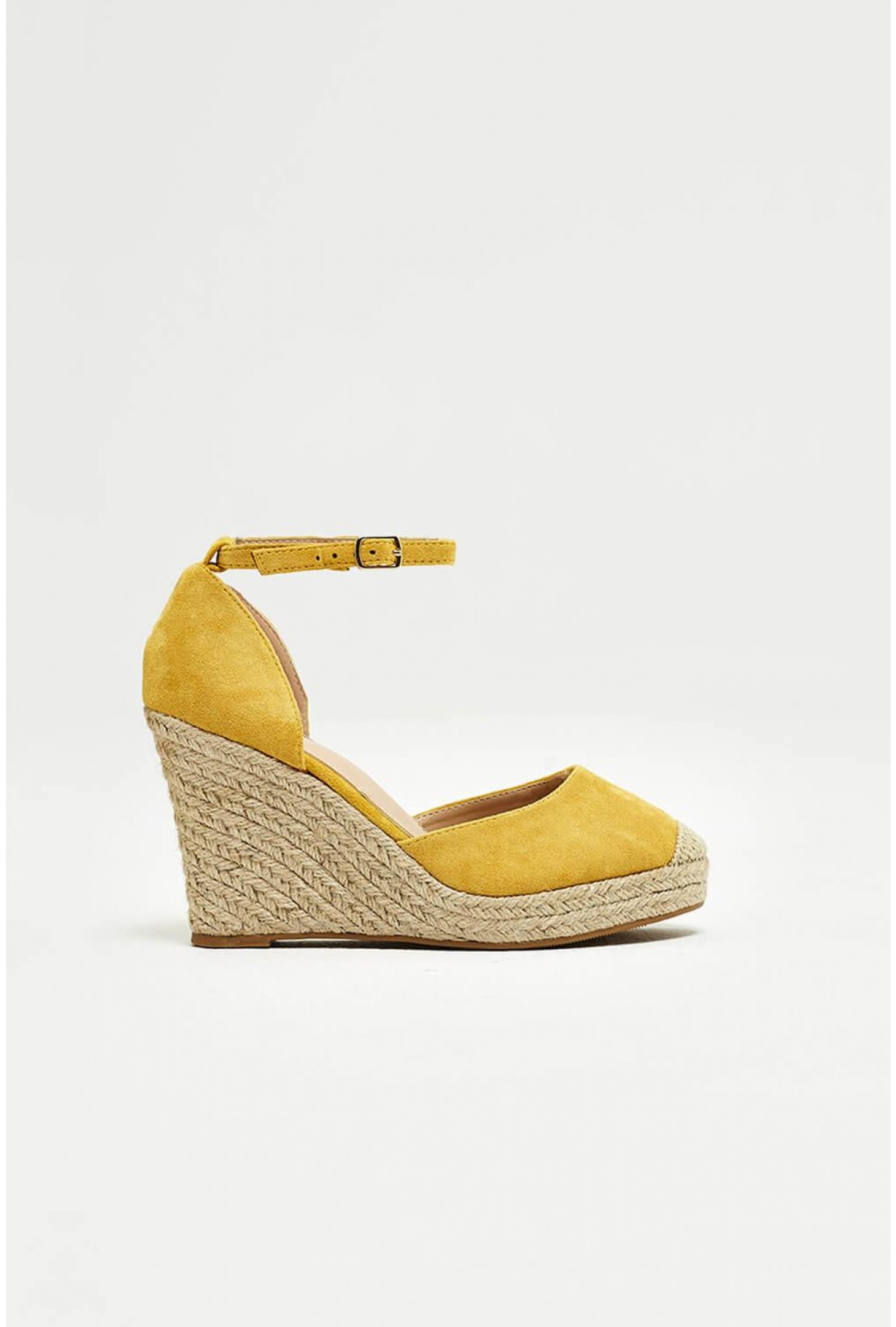 2e7cdf2937b No Doubt Jay Espadrille Wedges in Yellow Suede