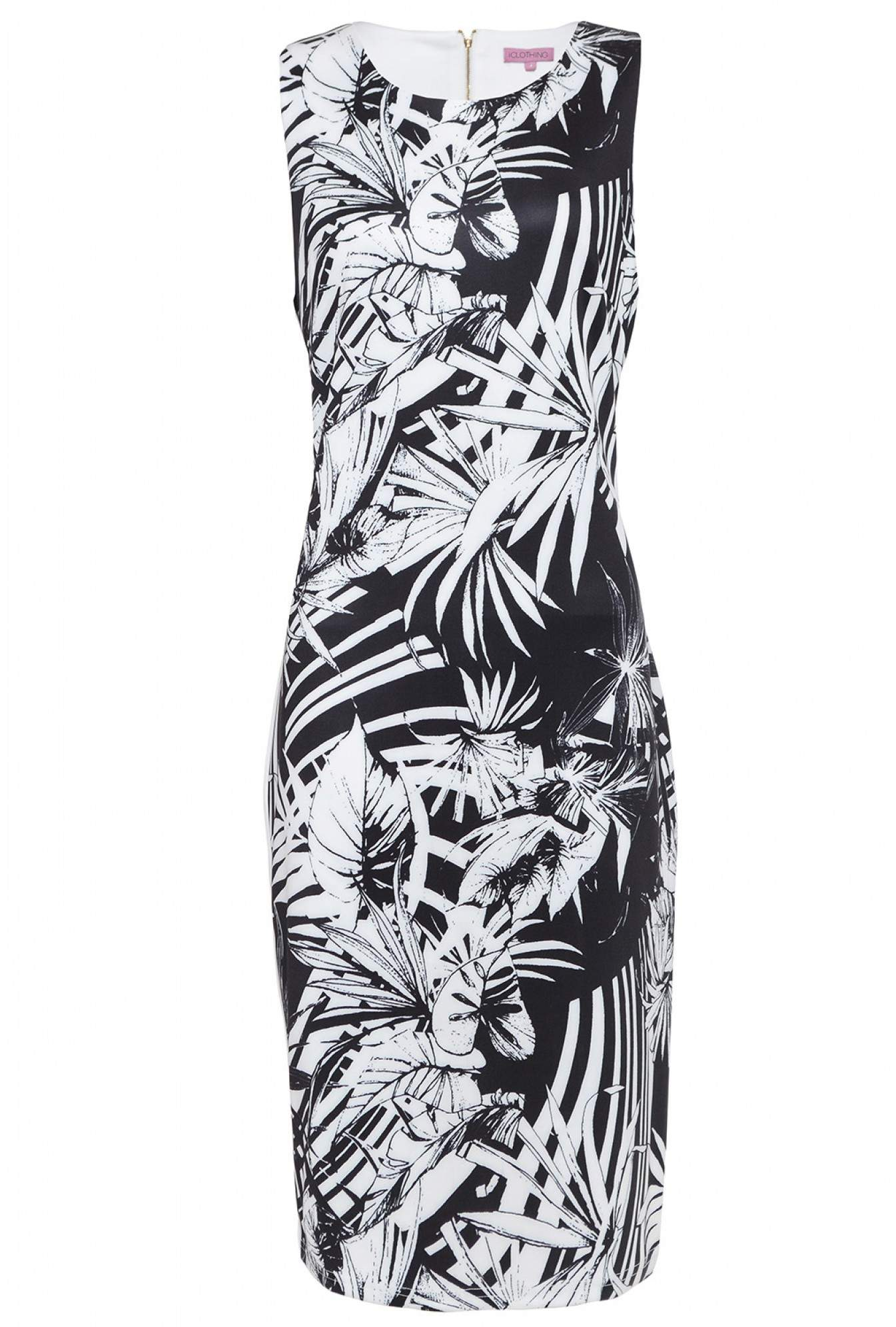 2b4742a07bd5 More Views. Calista Contrast Tropical Print Dress