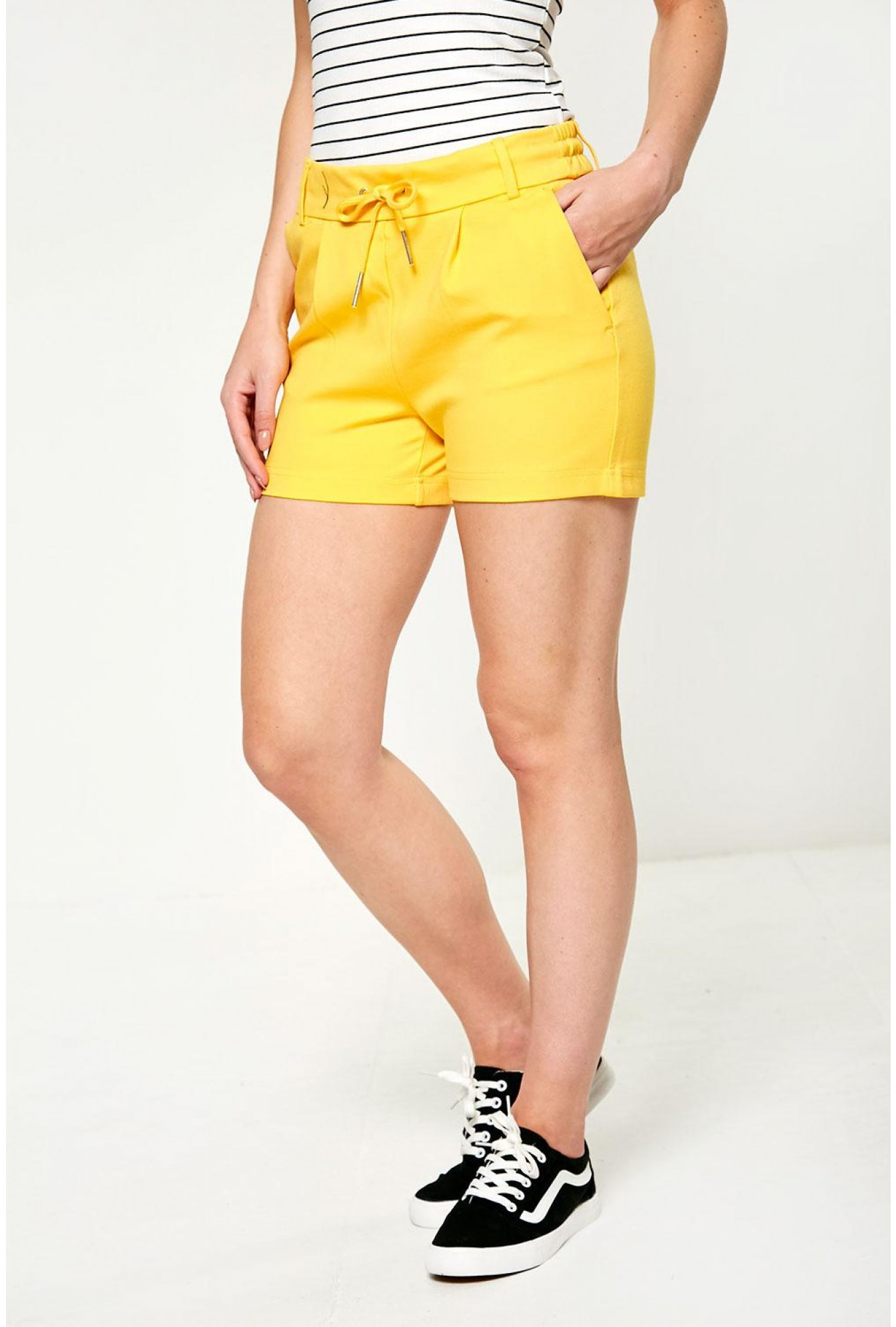 113ffcca Only Poptrash Shorts in Electric Yellow   iCLOTHING