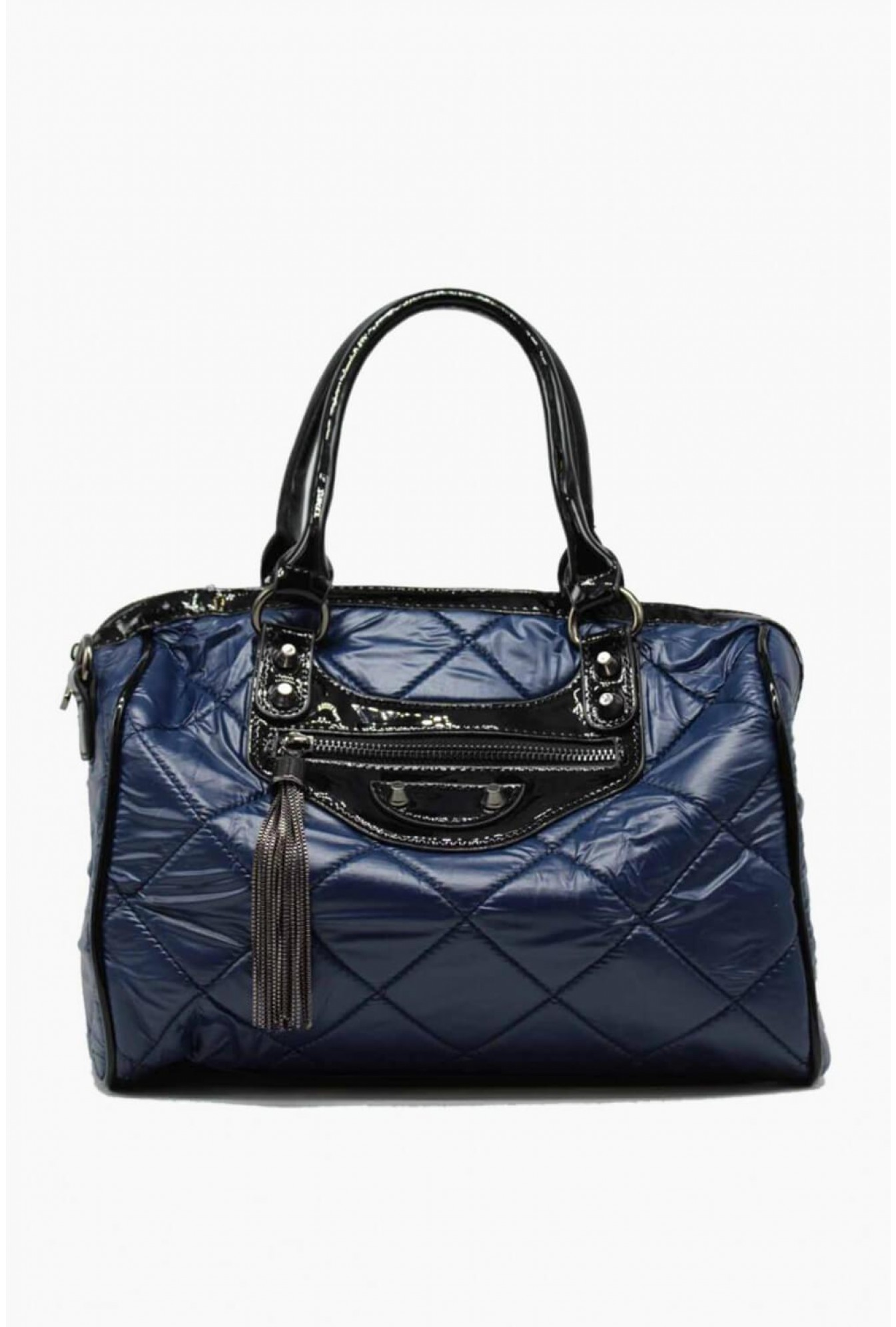 07236120fa ... 331000 black quilted nylon gym bag front view gold interior navy. More  Views Zac Quilted Handbag In Navy. Zac Quilted Handbag In Navy
