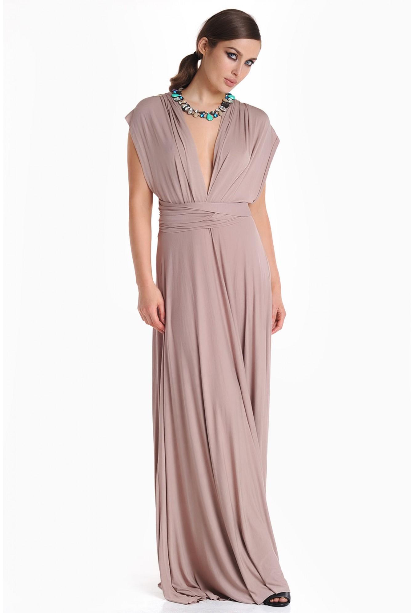 7366f47a38553 iCLOTHING Blair Multi Way Maxi Dress in Mocha   iCLOTHING
