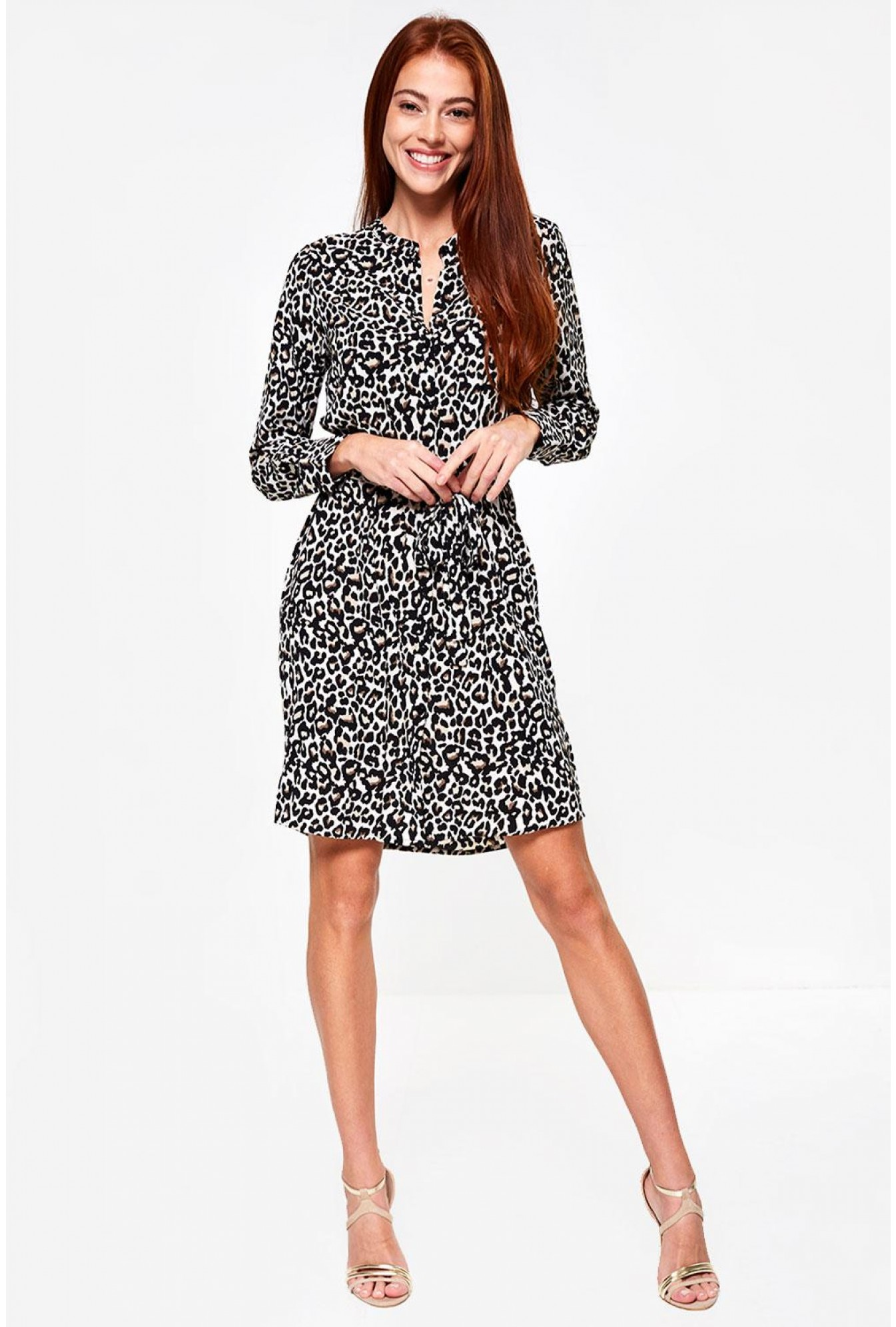 dc1f02f781e1 Vero Moda Saga Shirt Dress in Animal Print   iCLOTHING