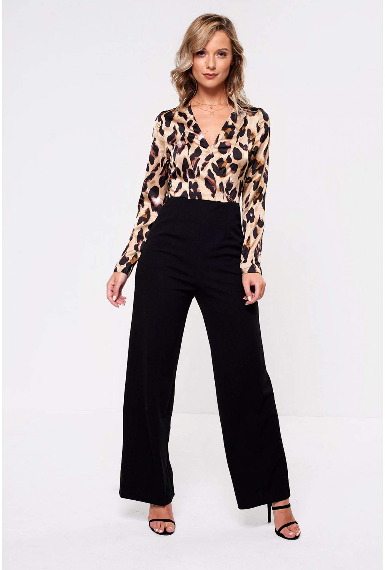 e4431824f2 Girl in Mind Imogen Animal Print Wide Leg Jumpsuit