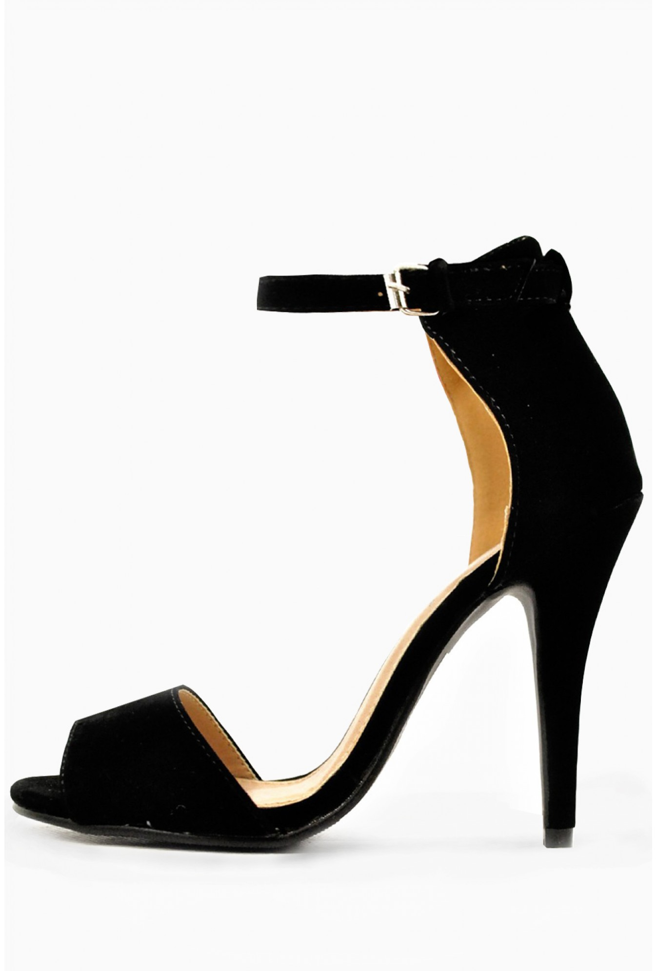 3489824e5cef0 247 Sonya Strappy Mid Heel Sandals in Black Suede   iCLOTHING