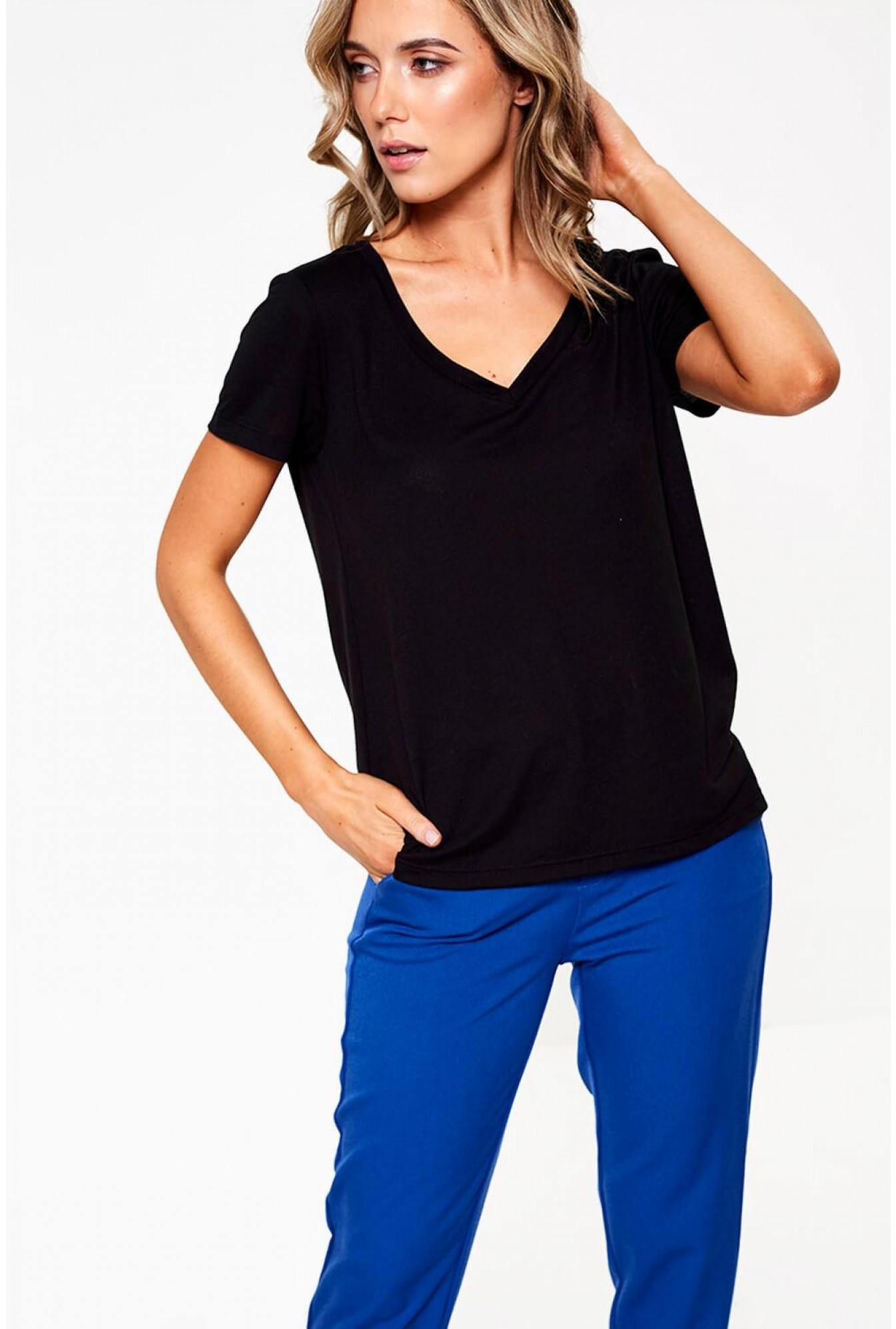 b273261727e6a More Views. Spicy V-Neck Short Sleeve Top in Black. Vero Moda