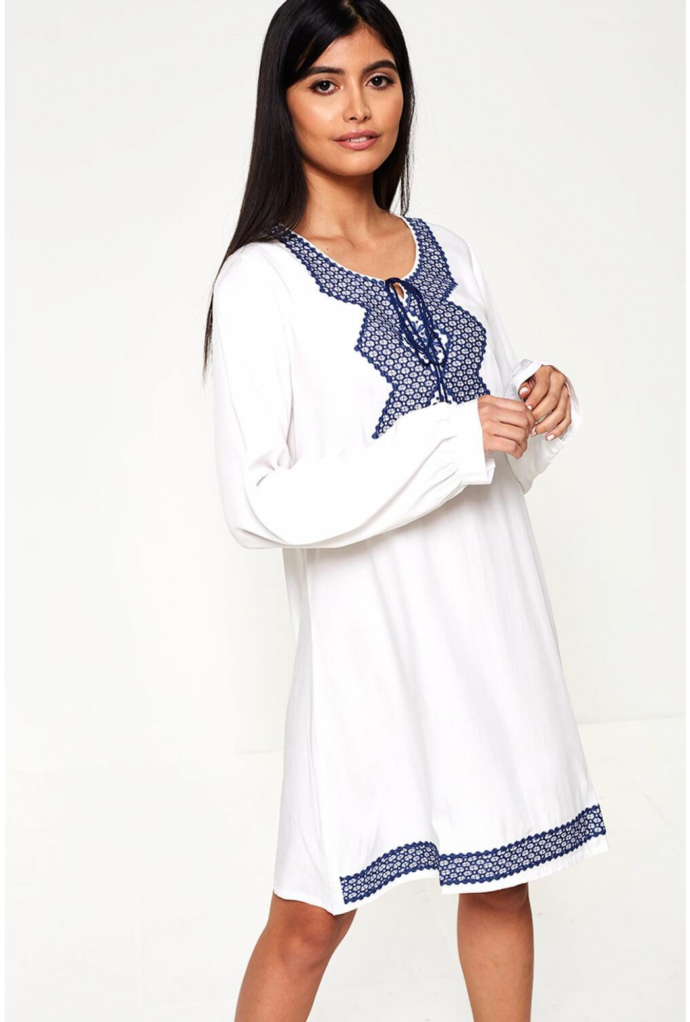 09bc11d69d9 More Views. Blake Embroidered Tunic Dress ...