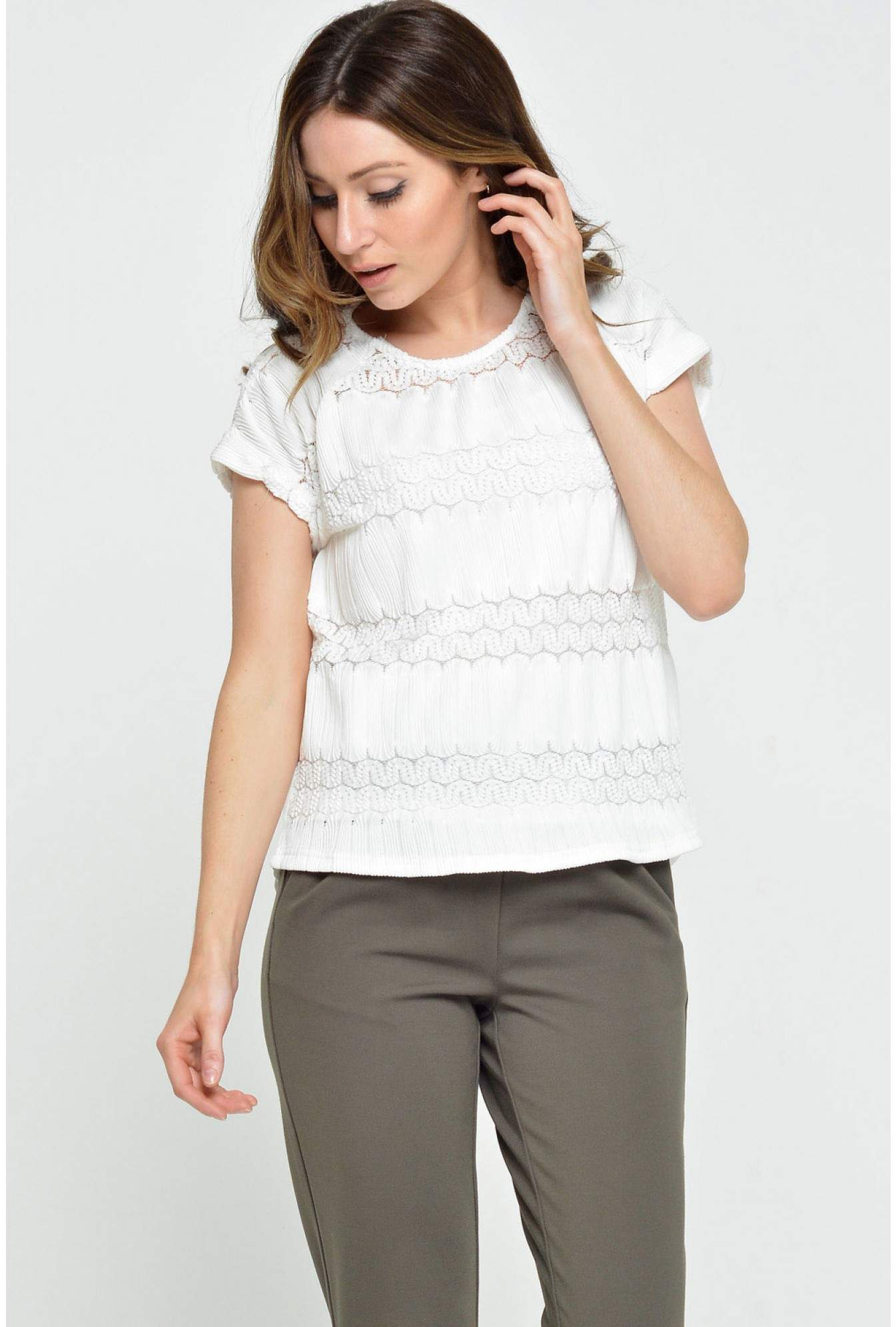 19d6abb26d Riley Textured Top in White