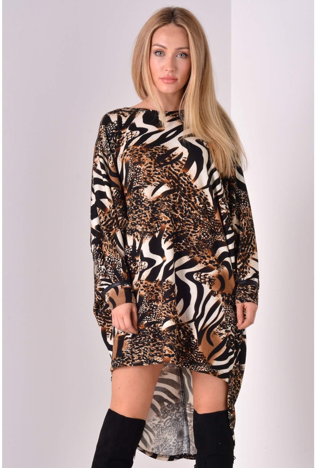c457b07786e1 Stella Tayler Animal Print Tunic in Brown
