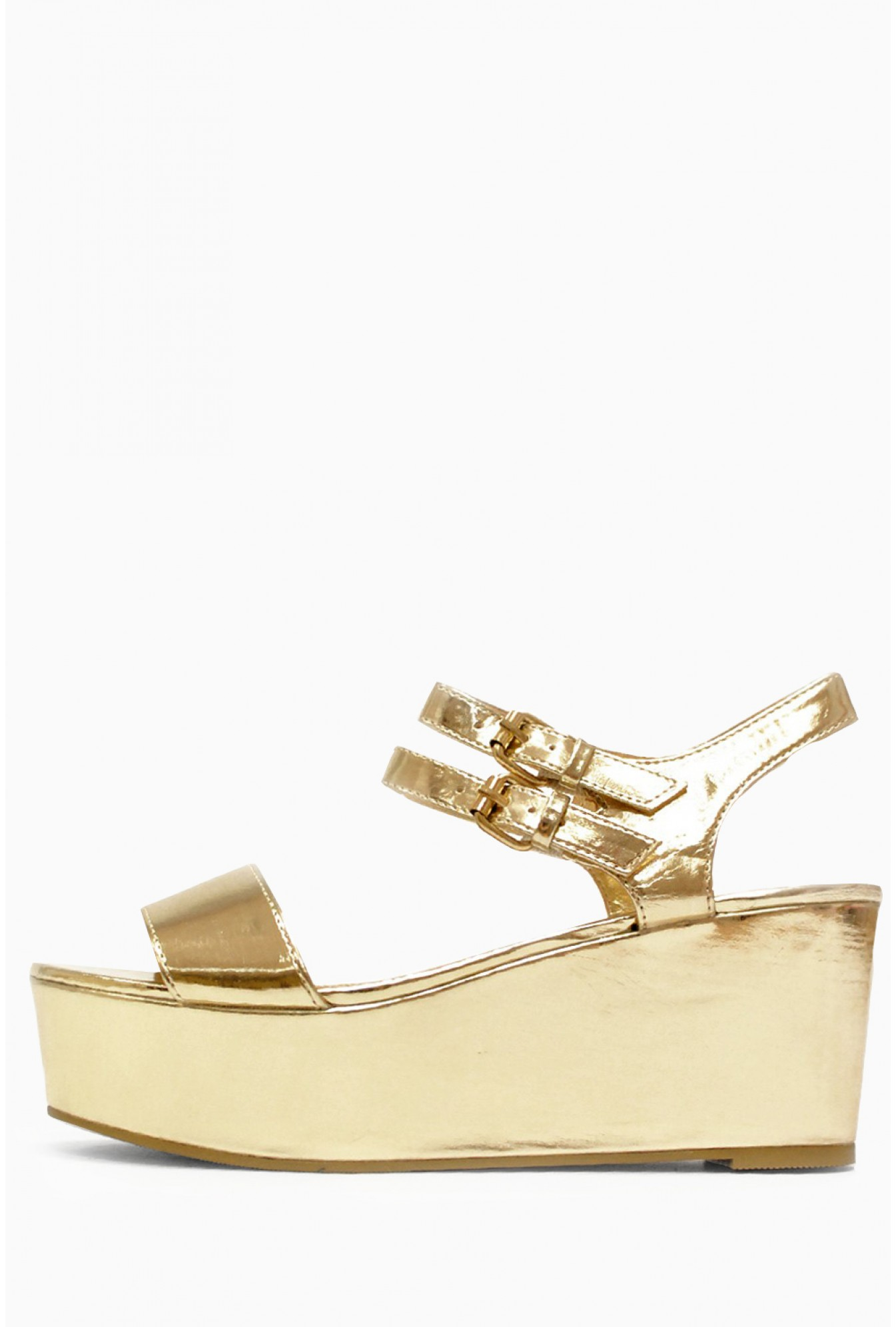 c8f2eb9890c1 More Views. Tara Strappy Wedge Sandals in Gold