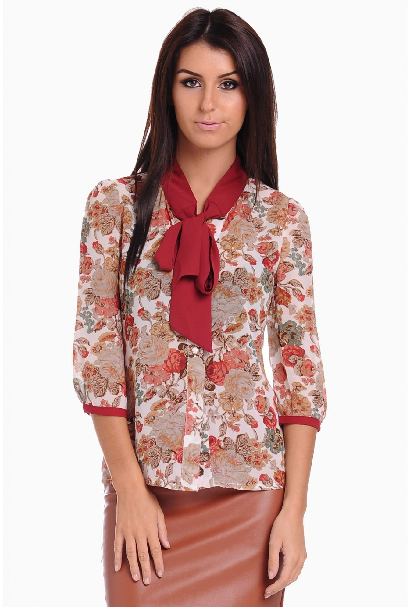 c07101ded6 More Views. Maisy Bow Neck Floral Blouse