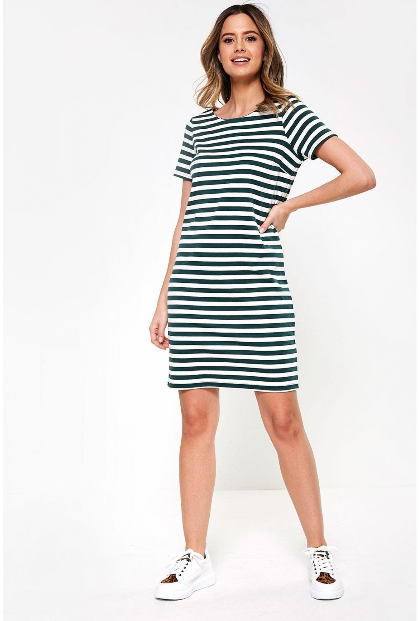 1a00694af8e Vila Tinny New S/S Dress in Baby Blue Stripe | iCLOTHING