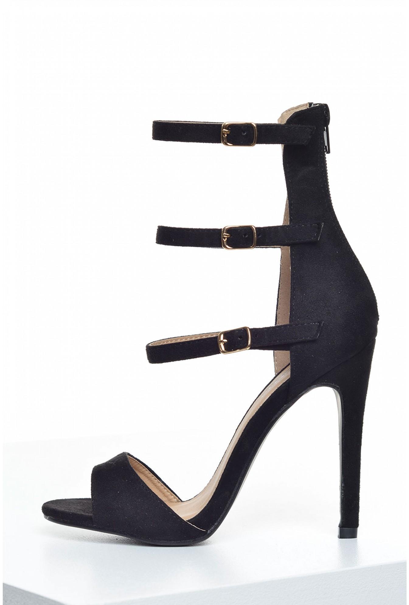 b26505666d7 Indigo Footwear Pricilla Ankle Strap Sandals in Black Suede