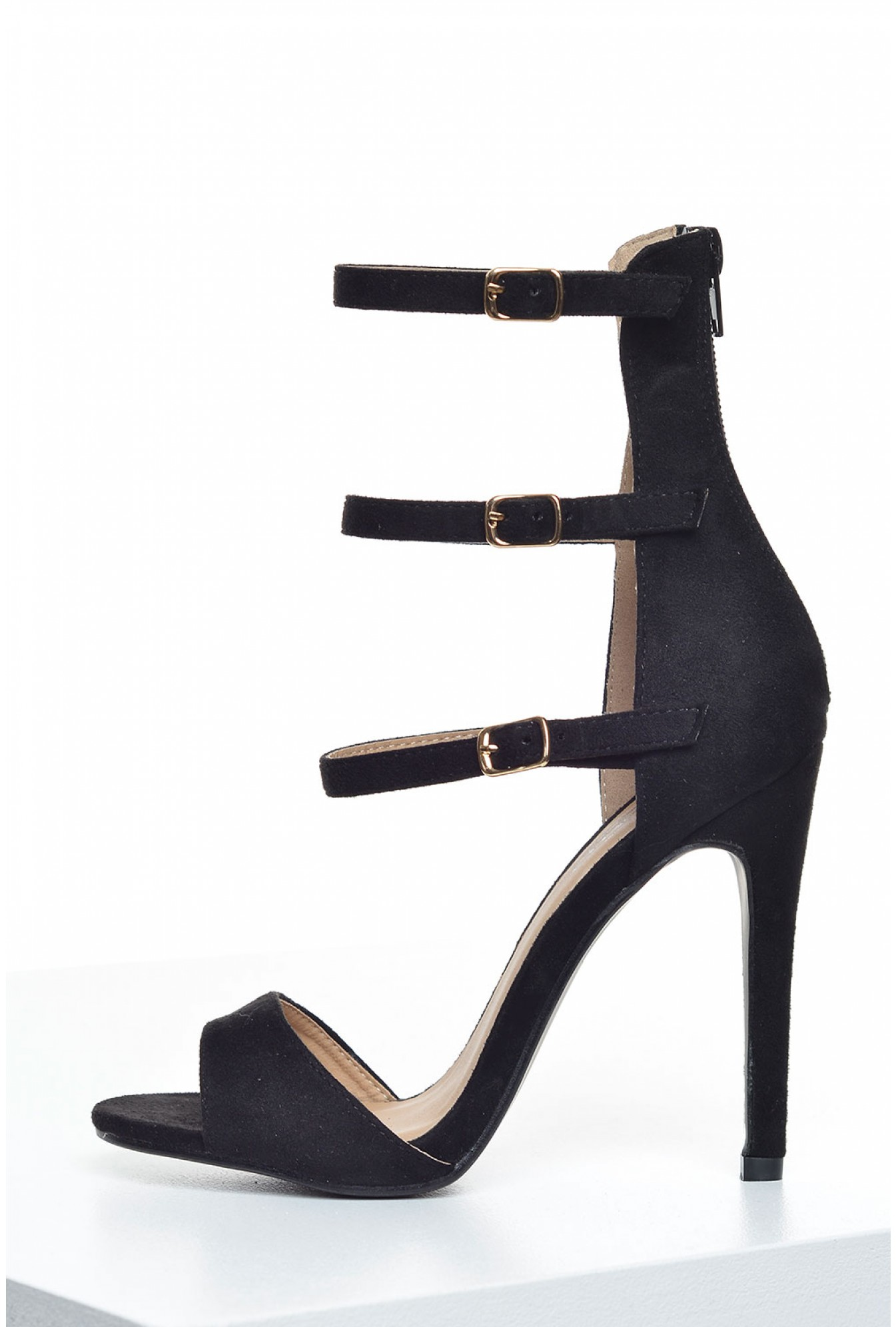 684cd1a801ba3 Indigo Footwear Pricilla Ankle Strap Sandals in Black Suede