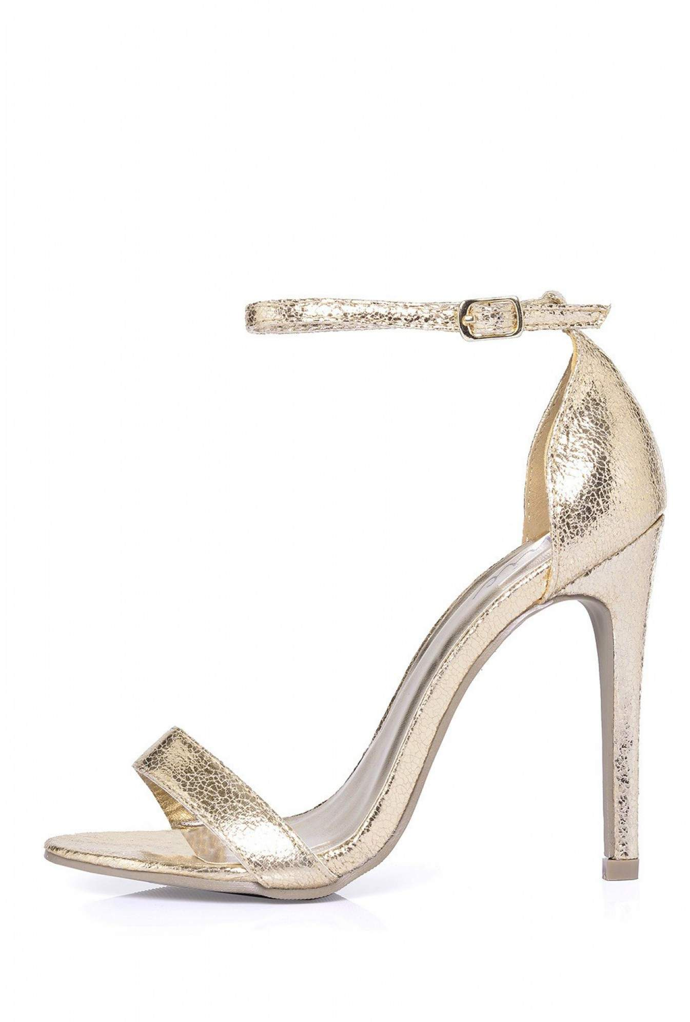 20285bbf5 No Doubt Holly Ankle Strap Sandals in Gold