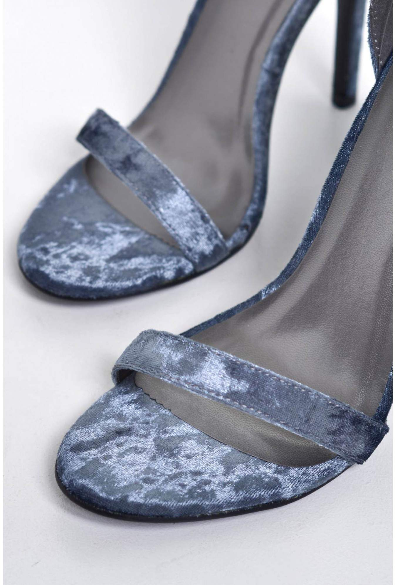 bffda2e6d No Doubt Holly Ankle Strap Sandals in Grey Velvet