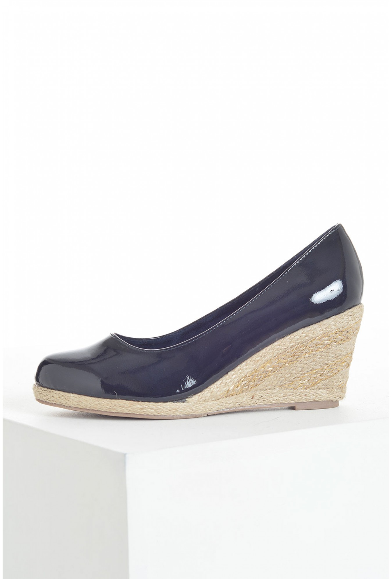 9d9967f6196b More Views. Kate Espadrille Wedges in Navy Patent