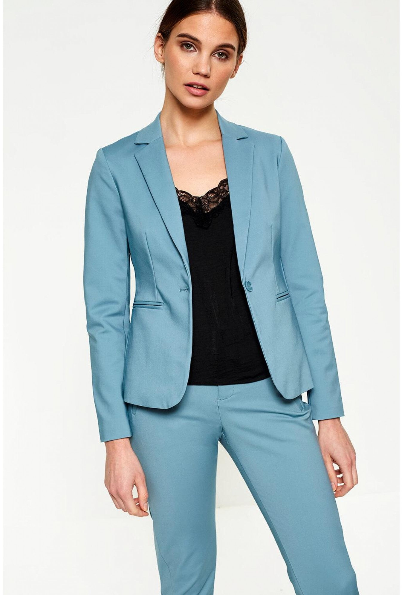 a7b61d8554 More Views. Victoria Long Sleeve Blazer in Duck Egg Blue