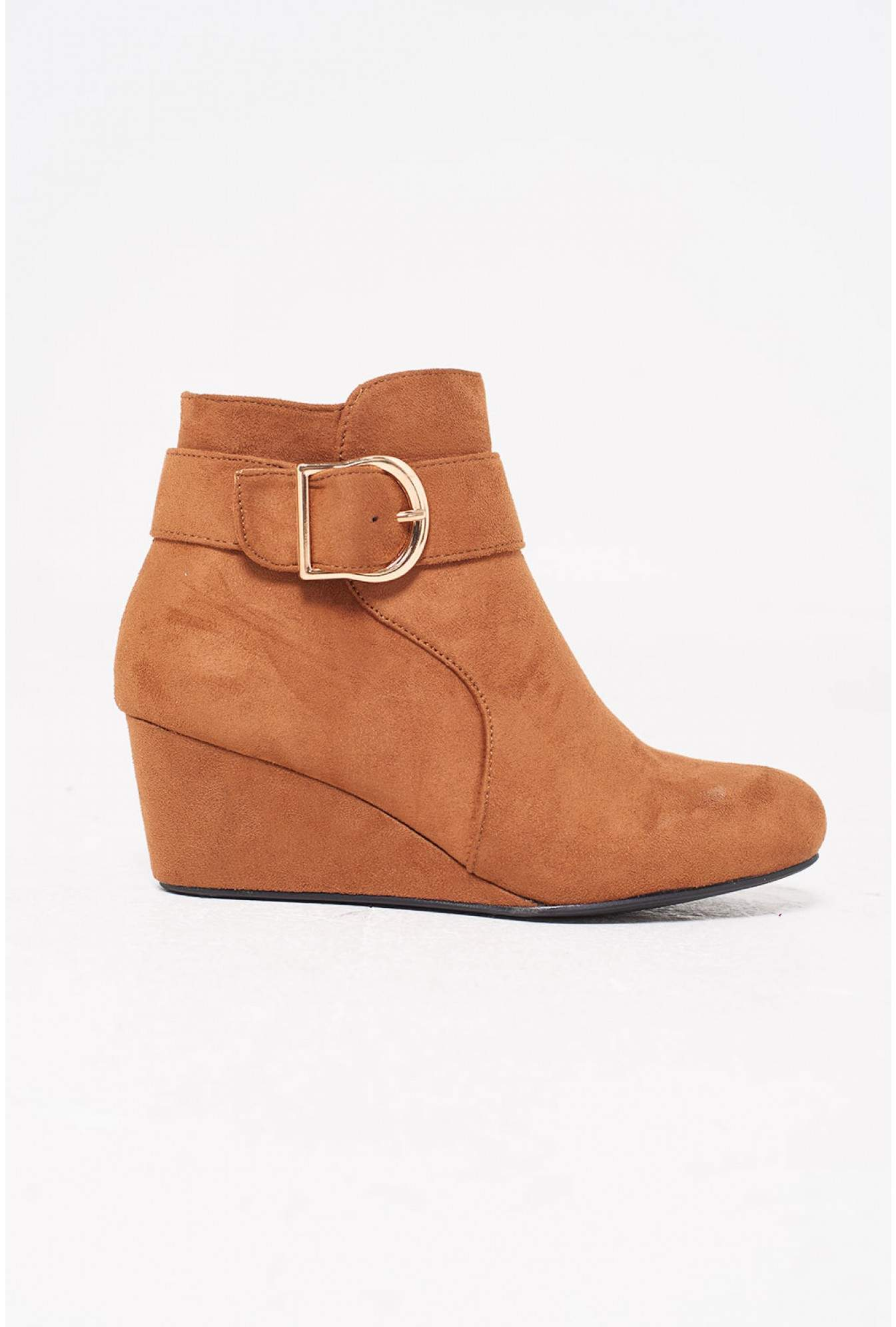 cebe2724c91 Winter Wedge Ankle Boots in Tan