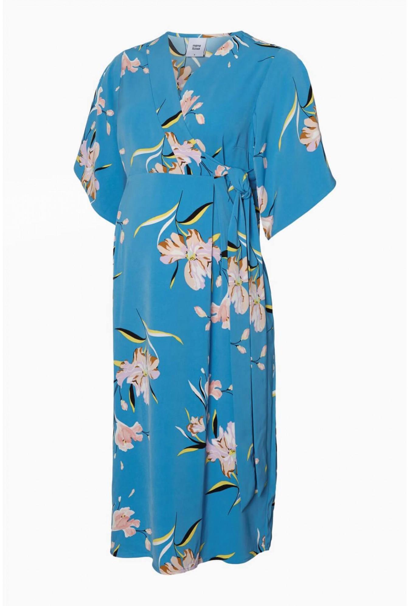 5bf29274509c0 Mamalicious Martina Woven Maternity Midi Dress | iCLOTHING