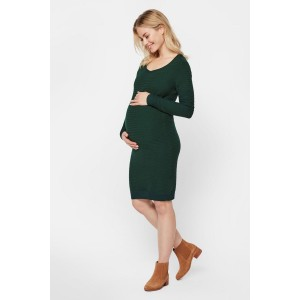 01ec4ba8a70ff Mamalicious Olan Maternity Knit Dress in Dark Green | iCLOTHING