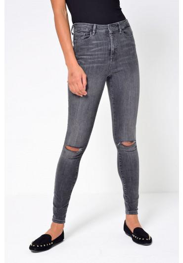 646ceabed0d2a ... Sophia Regular High Waist Ripped Skinny Jean in Grey
