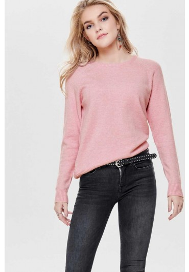5a14d2ecb5e ... Lesly Long Sleeve Knit Jumper in Baby Pink