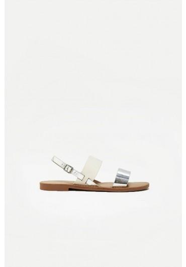fb9fe2521d44ec Mandala Flat Sandals in Silver Mandala Flat Sandals in Silver